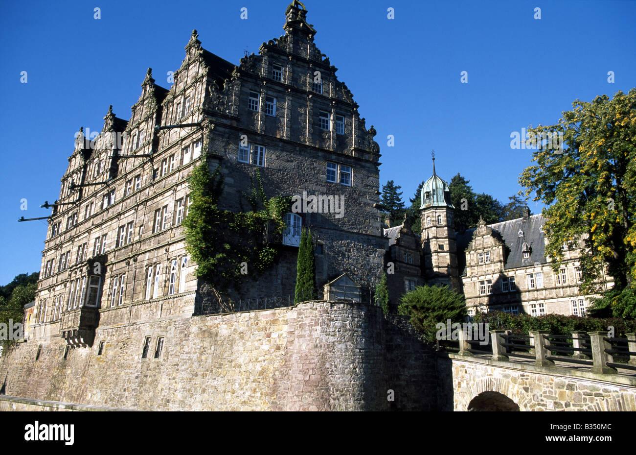 castle Haemelschenburg, Weser Hills, Lower Saxony, Germany Stock Photo