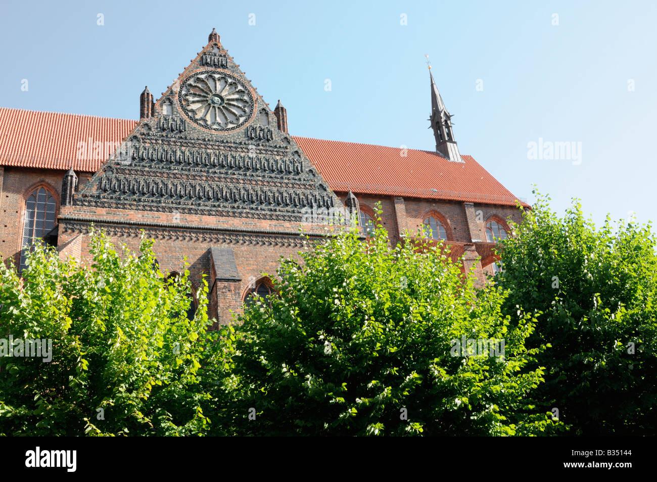 St. Nikolai Kirche in Wismar, Deutschland. - St. Nikolai Church in Wismar, Germany. - Stock Image