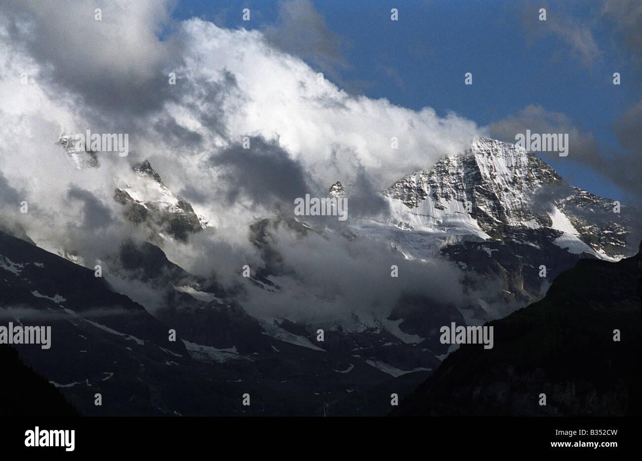 Switzerland bernese oberland berner oberland Breithorn - Stock Image