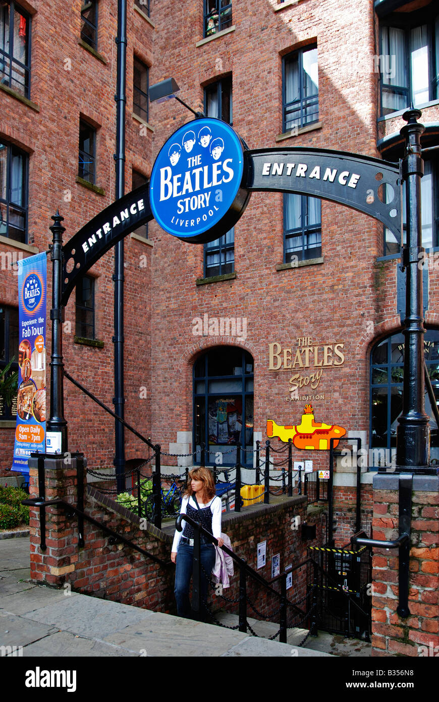 the 'beatles story' museum at the 'albert dock' in liverpool,england,uk - Stock Image