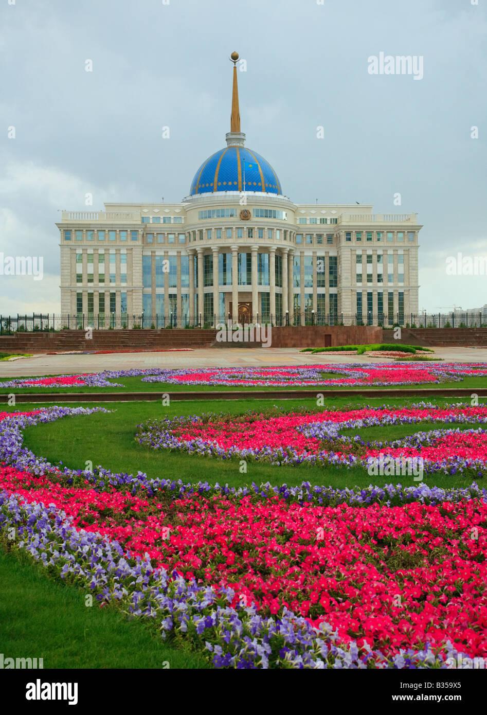 Palace of President of Kazakhstan Republic Astana Kazakhstan - Stock Image