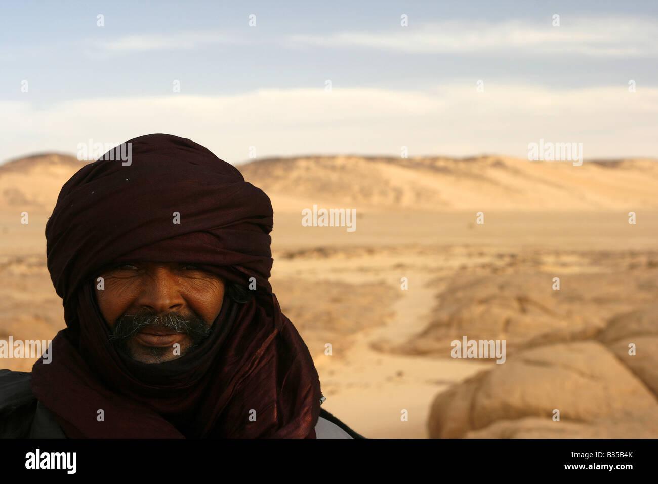 Tuareg In Tehog Tassili Ahaggar Sahara desert Algeria Stock Photo