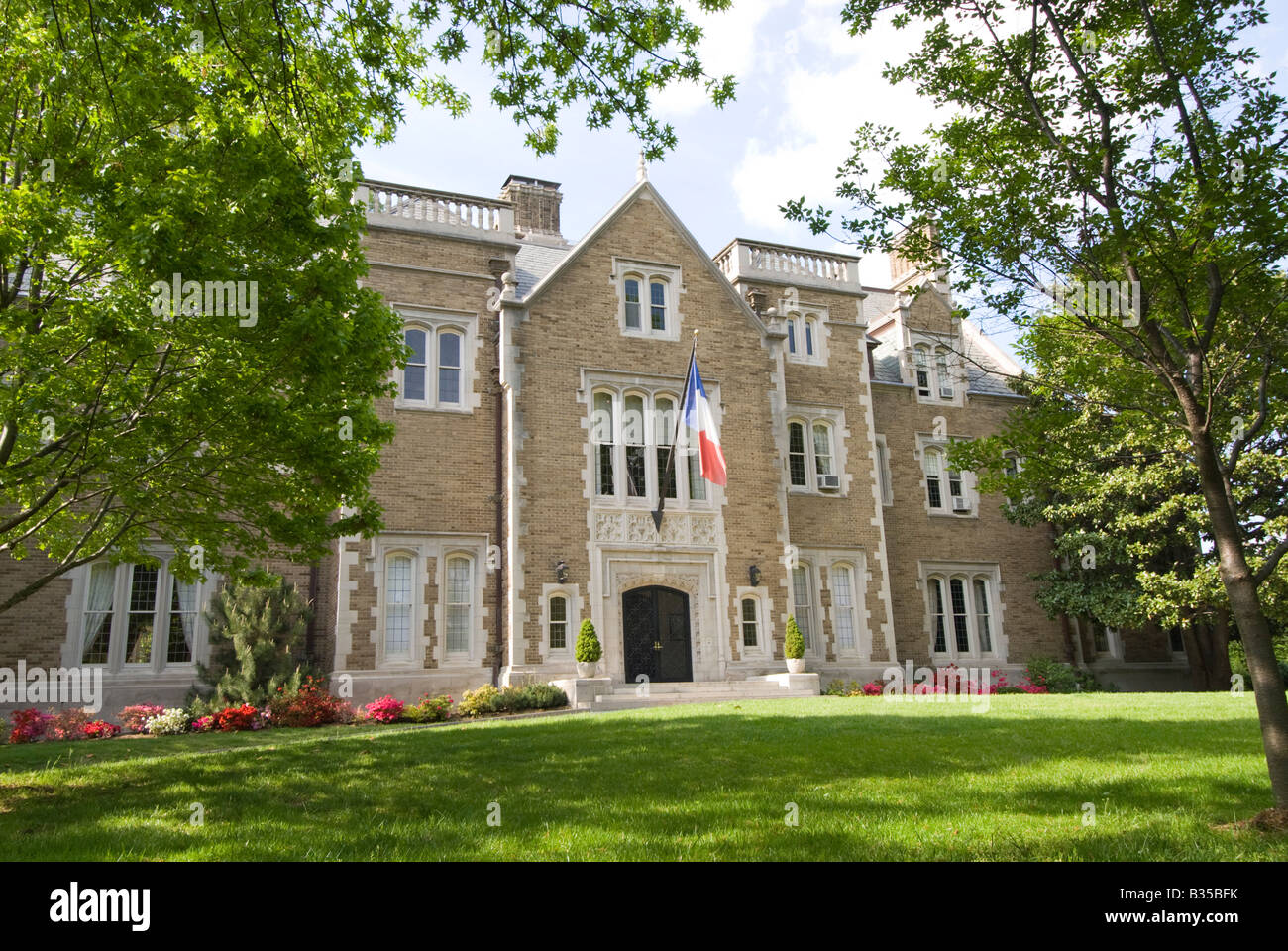 The French Ambassador's residence on Kalorama, Washington, DC. Stock Photo