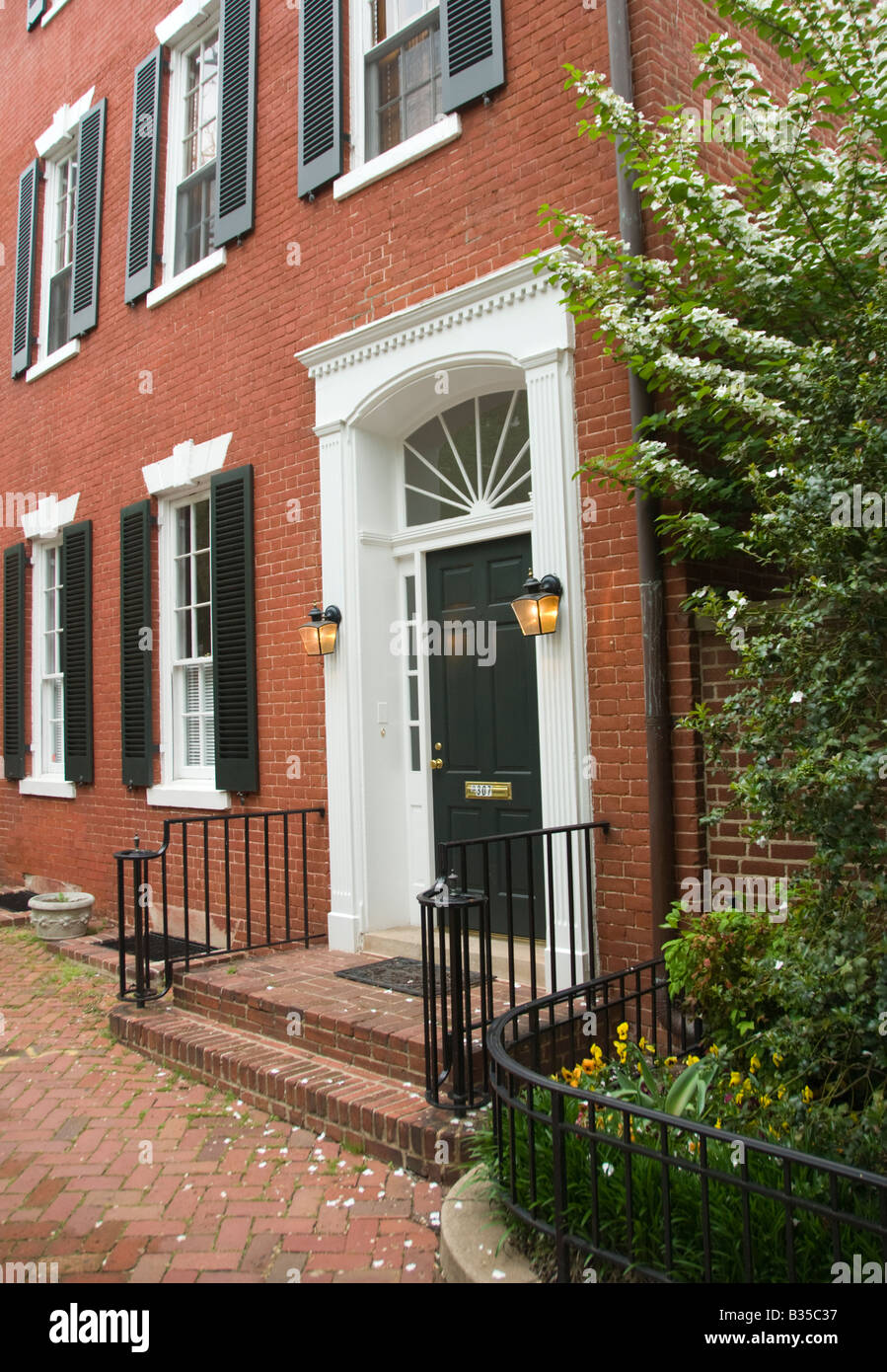 Marbury House, historic brick home of John and Jacqueline Kennedy, in Georgetown, Washington, DC. - Stock Image