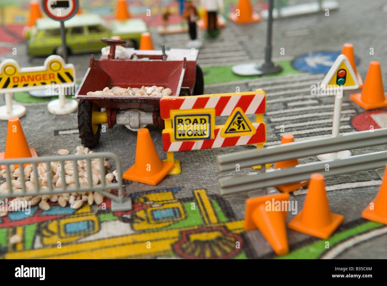 Road work - Stock Image