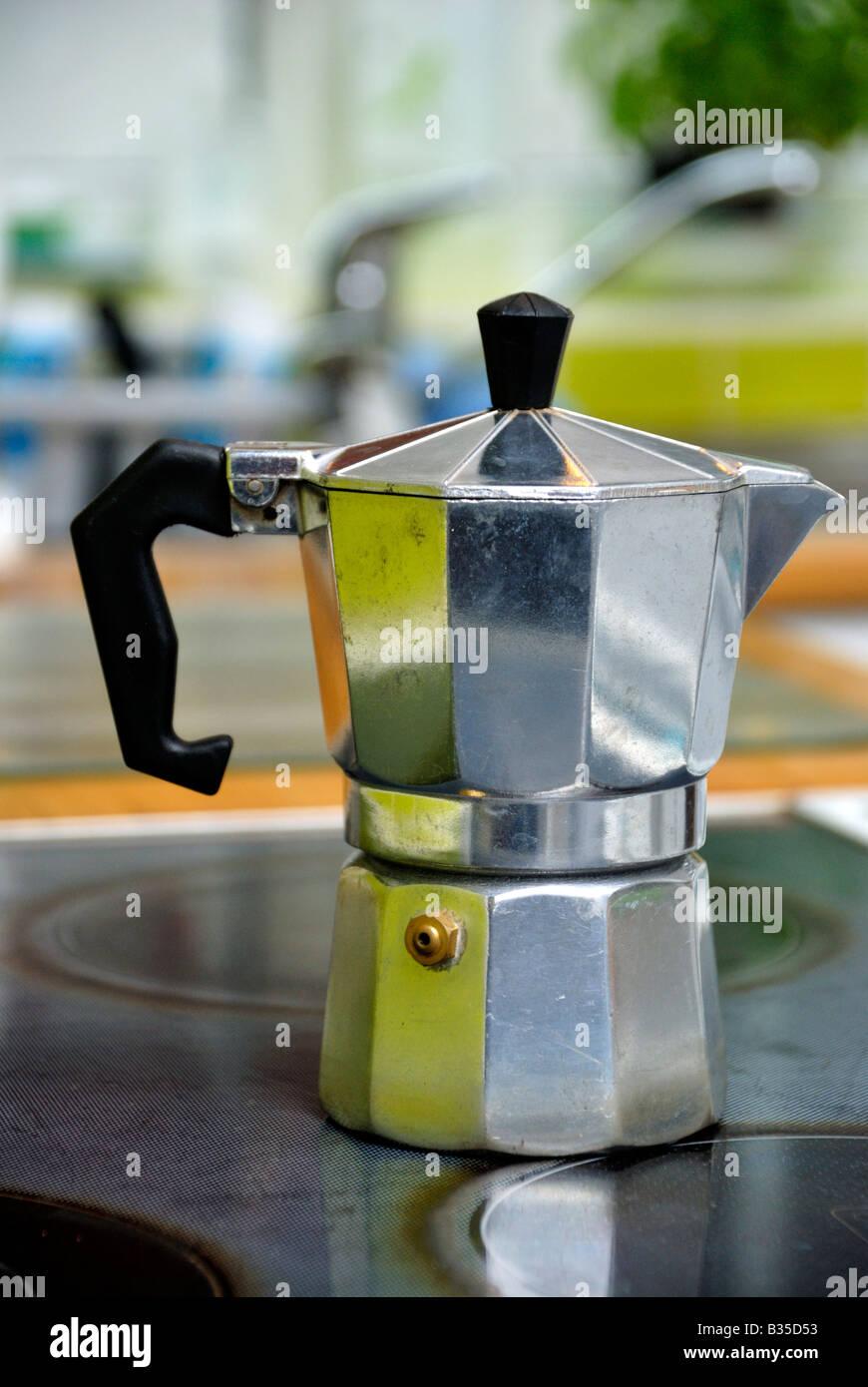 Stovetop moka espresso maker - Stock Image