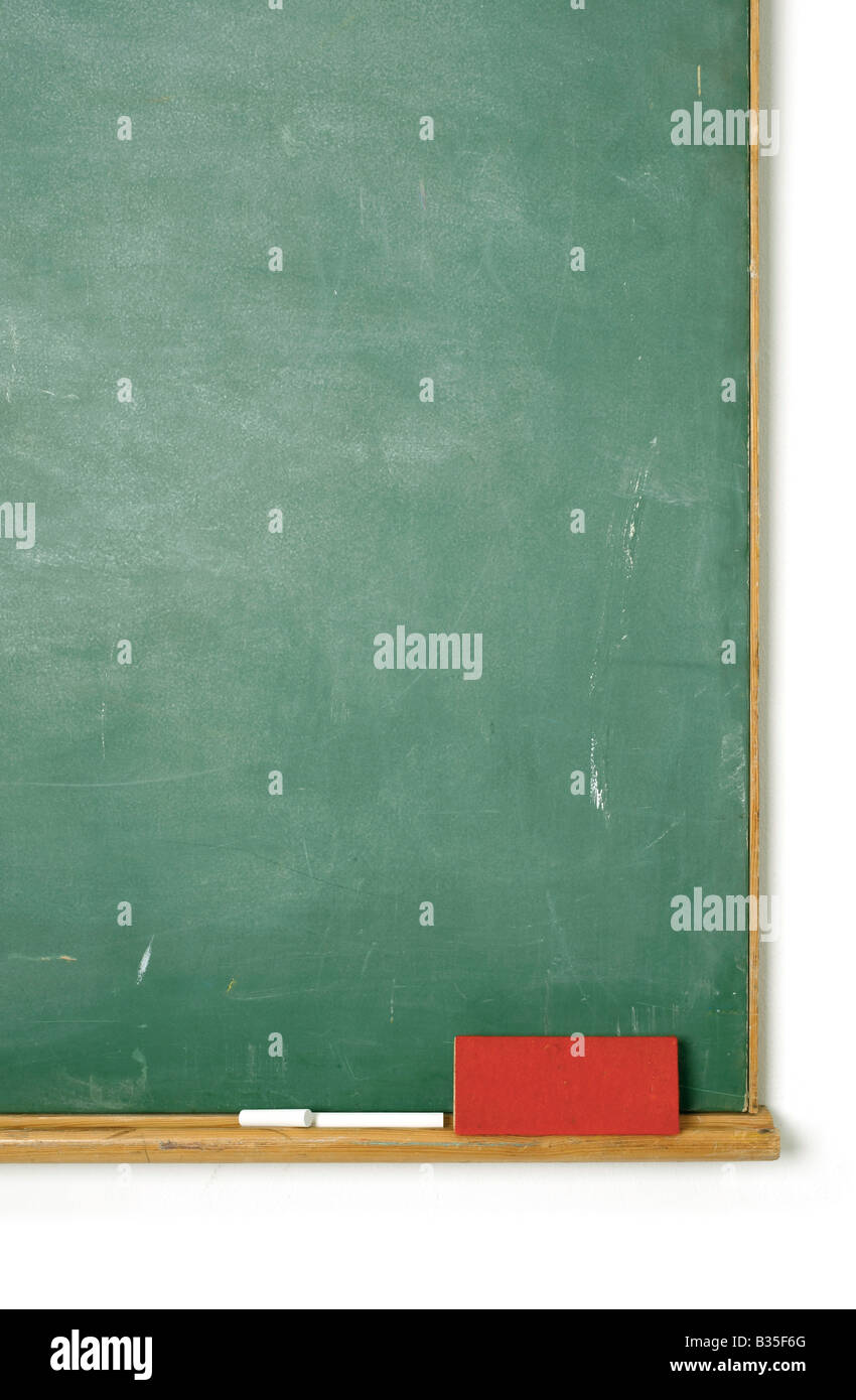 Old chalkboard insert your own message - Stock Image