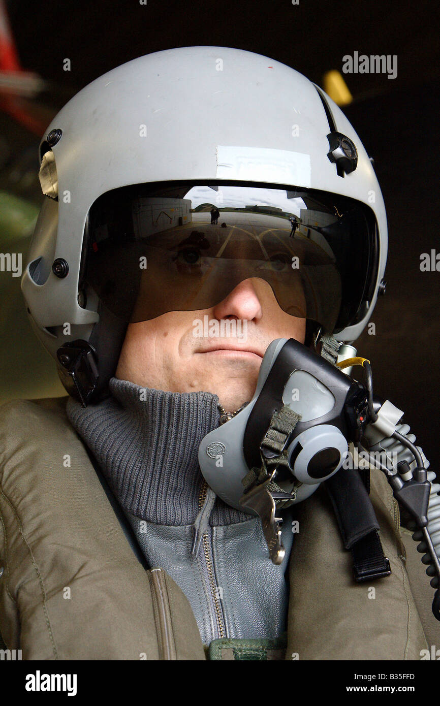 Pilot of the 51st Imelmann Reconnaissance Wing, Jagel, Germany - Stock Image