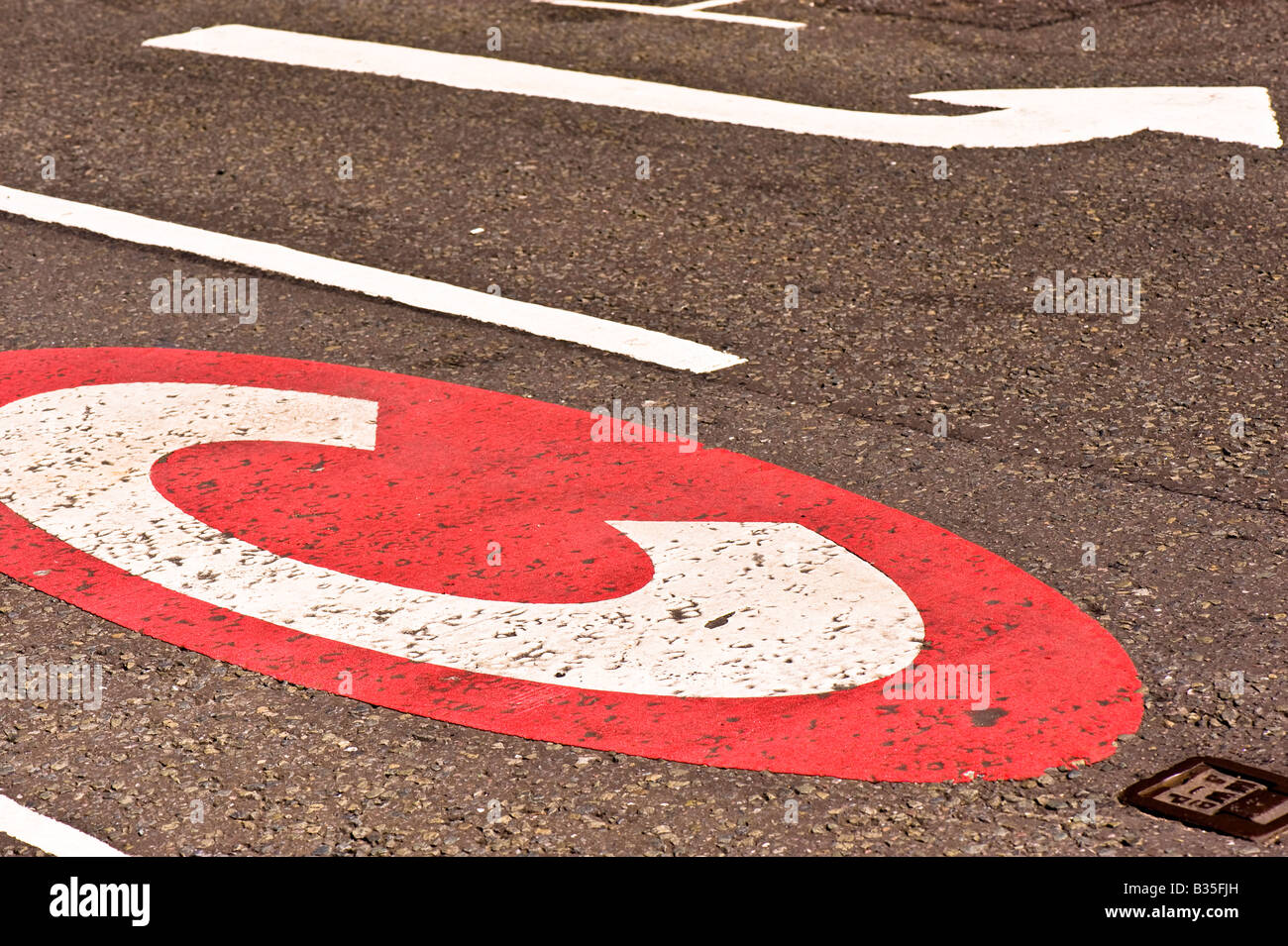 Congestion charge sign Earls Court SW5 London United Kingdom - Stock Image