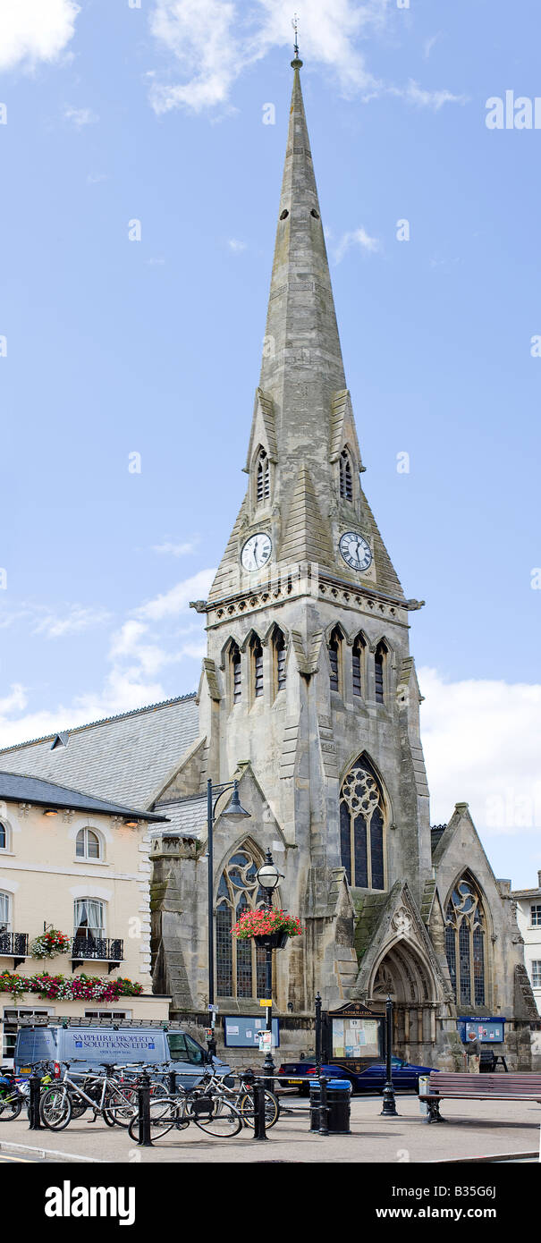 The Free Church on Market Hill, St.Ives - Stock Image