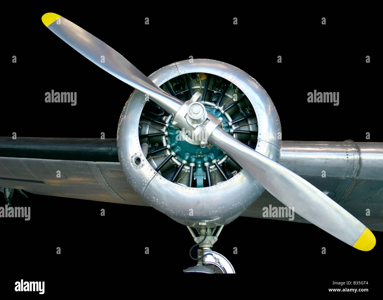 This is an old aircraft propeller - Stock Image