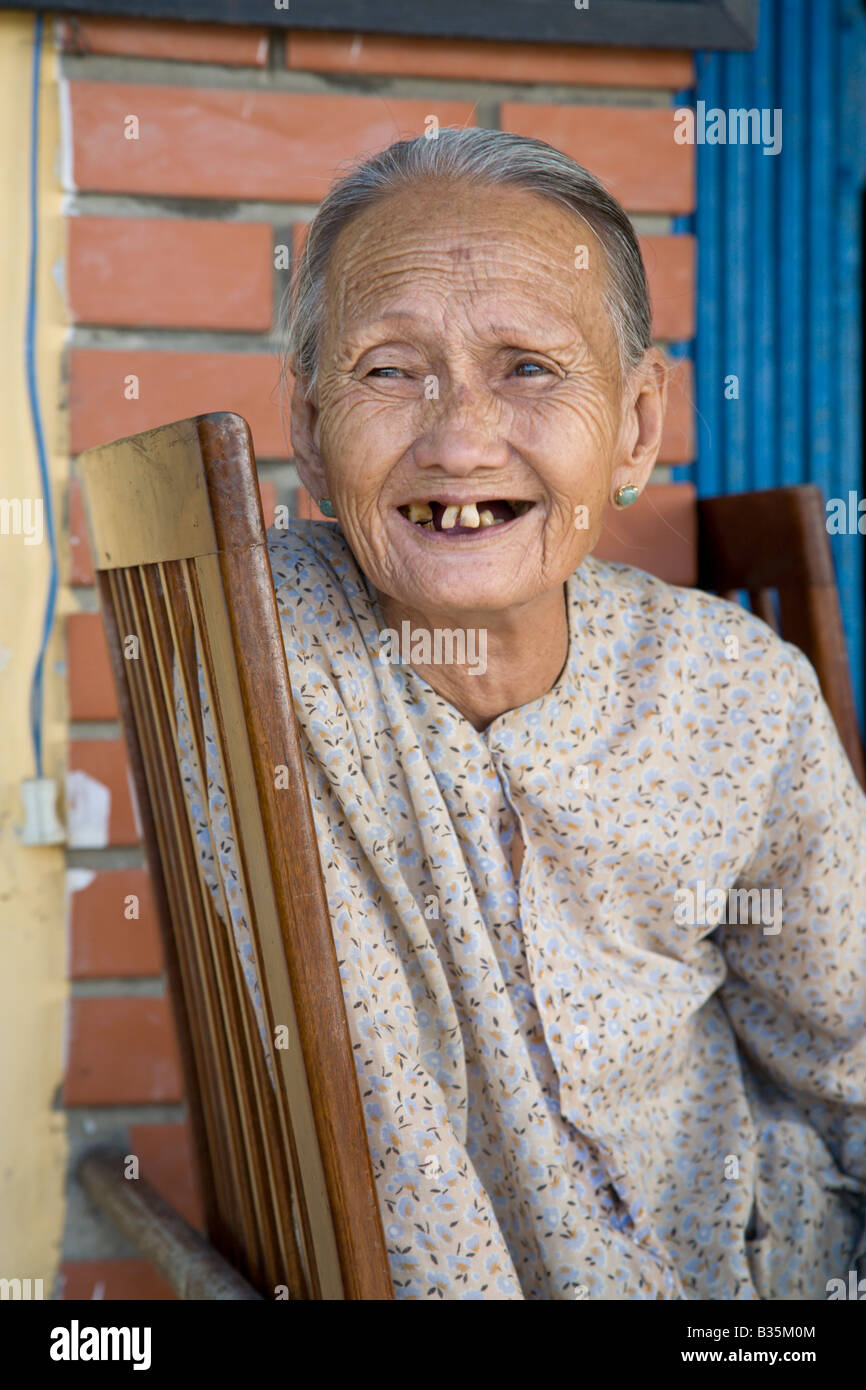 An Old Vietnamese Lady Stock Image