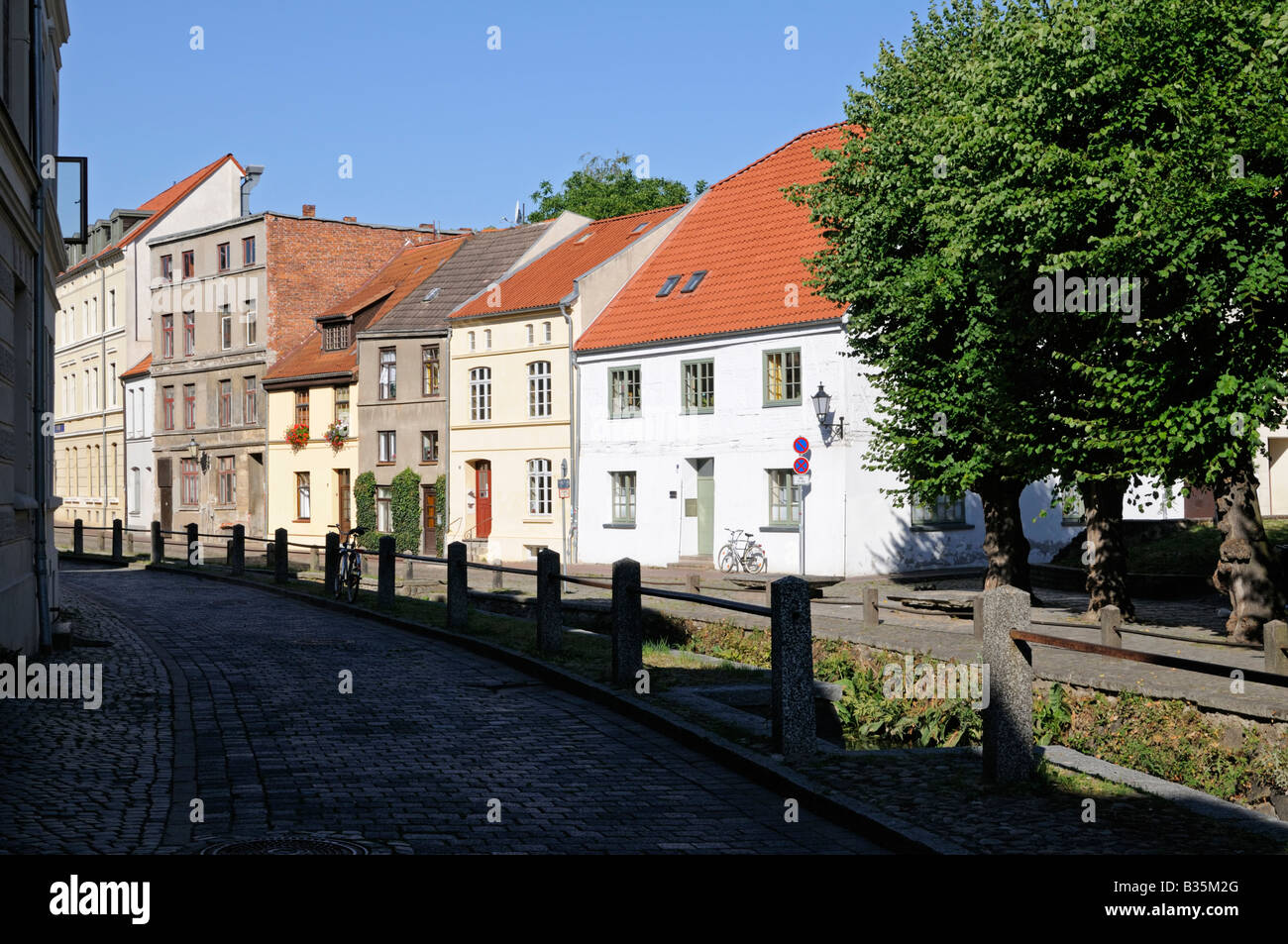 Straße namens Frische Grube in Wismar Deutschland Street named Frische Grube in Wismar Germany - Stock Image