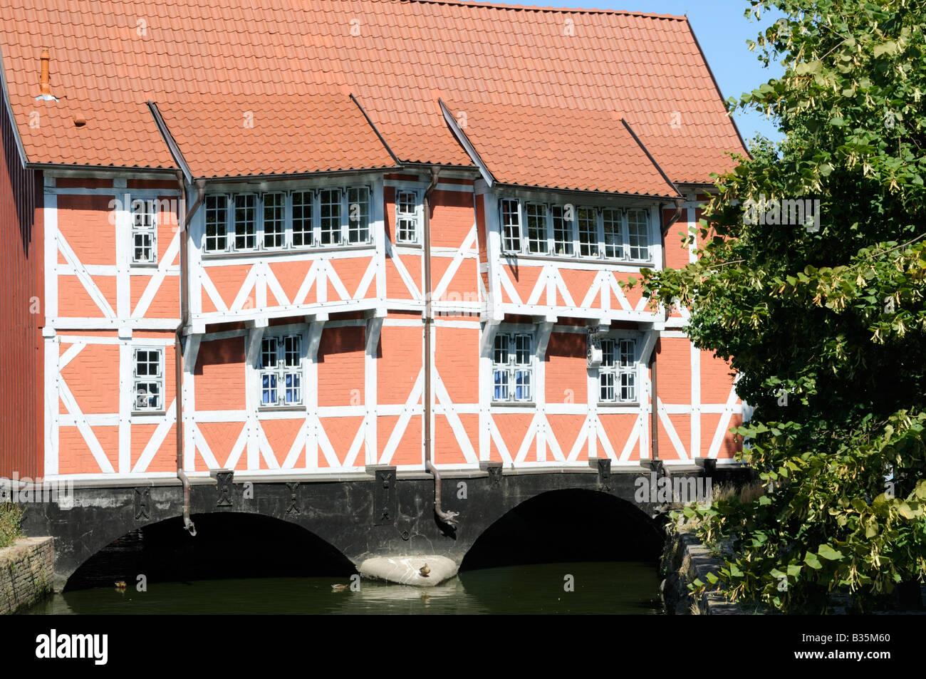 Fachwerkhaus genannt Gewölbe Wismar Deutschland Half timbered house called Gewoelbe Wismar Germany Stock Photo