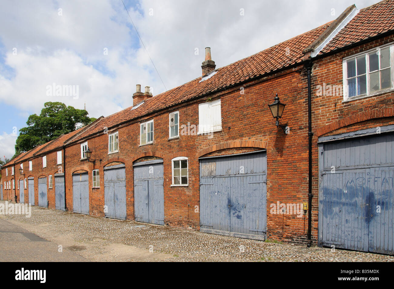 Traditional mews buildings, Ferry Lane  Norwich Norfolk UK Stock Photo