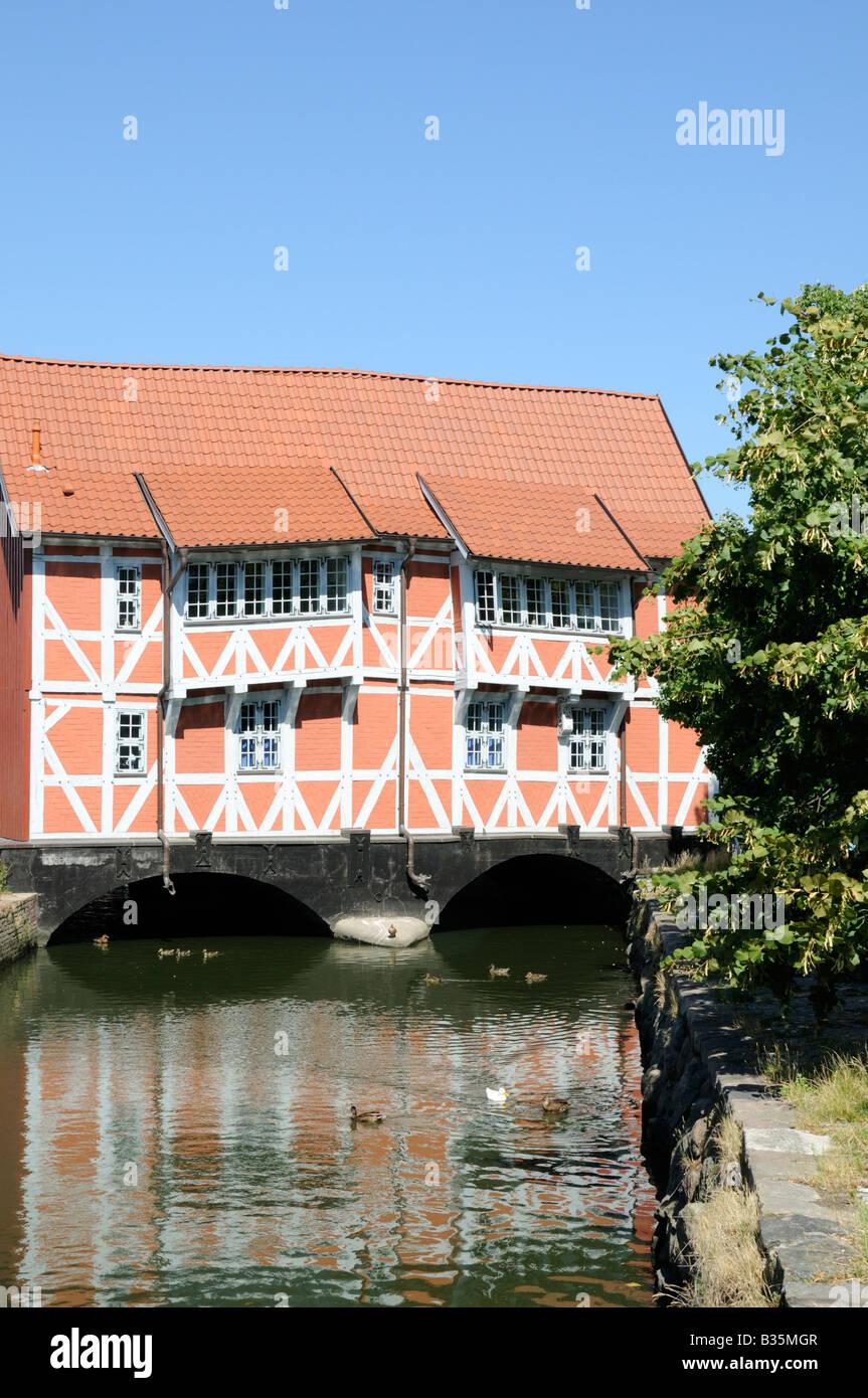 Fachwerkhaus genannt Gewölbe Wismar Deutschland Half timbered house called Gewoelbe Wismar Germany - Stock Image