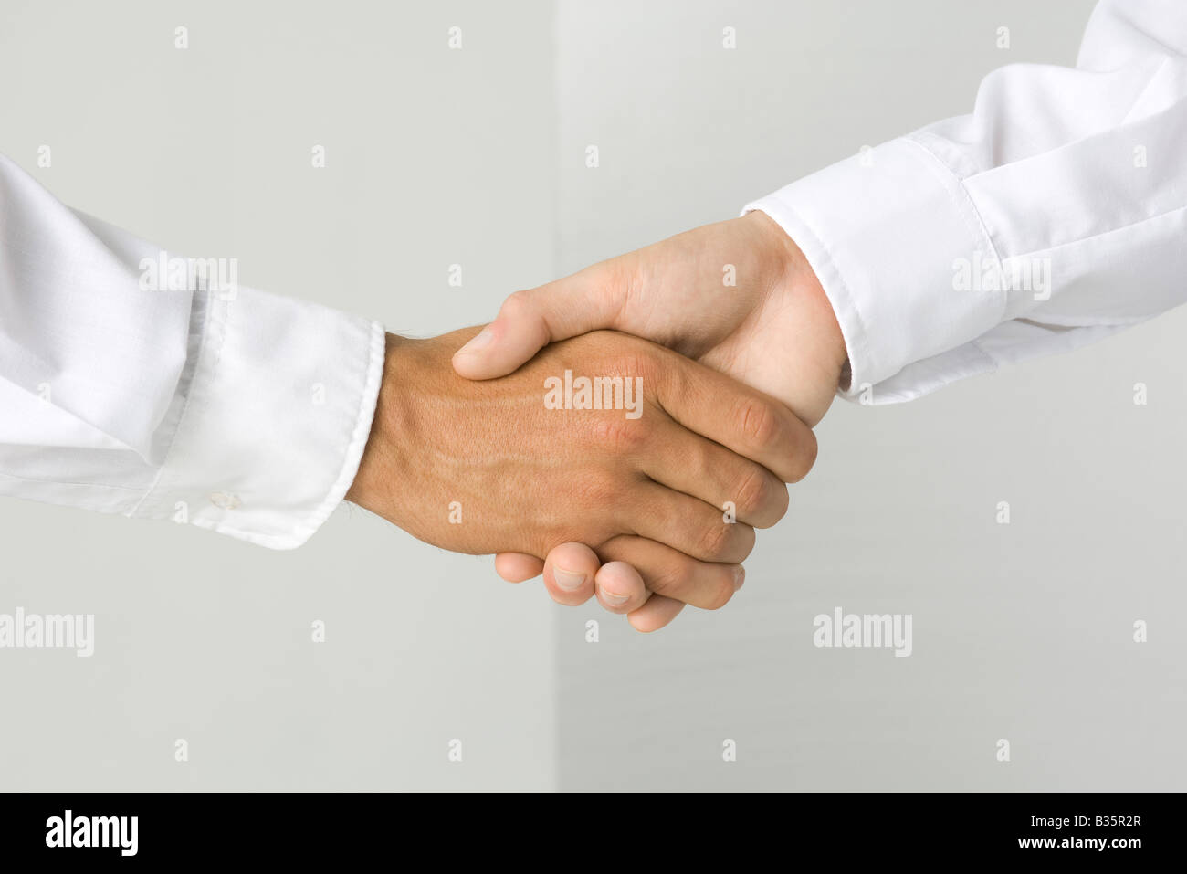 Cropped view of a handshake Stock Photo