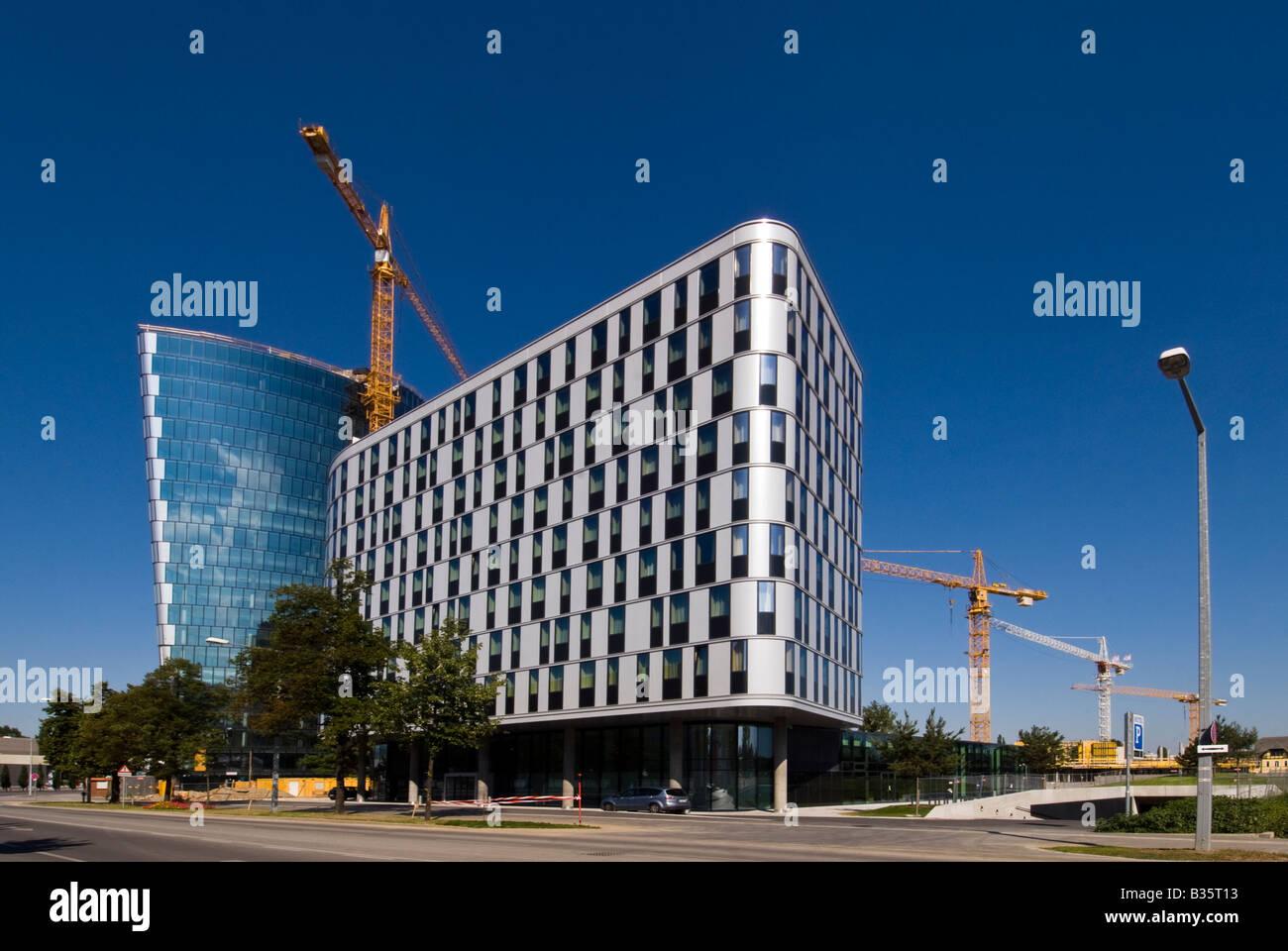 Hoch Zwei and Hotel zwei, krieau, vienna, austria - Stock Image