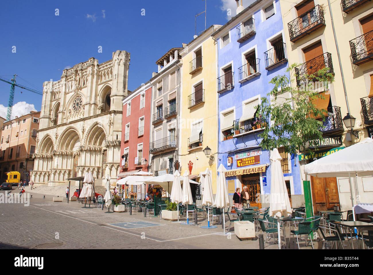 Main Square. Cuenca. Castile La Mancha. Spain. - Stock Image