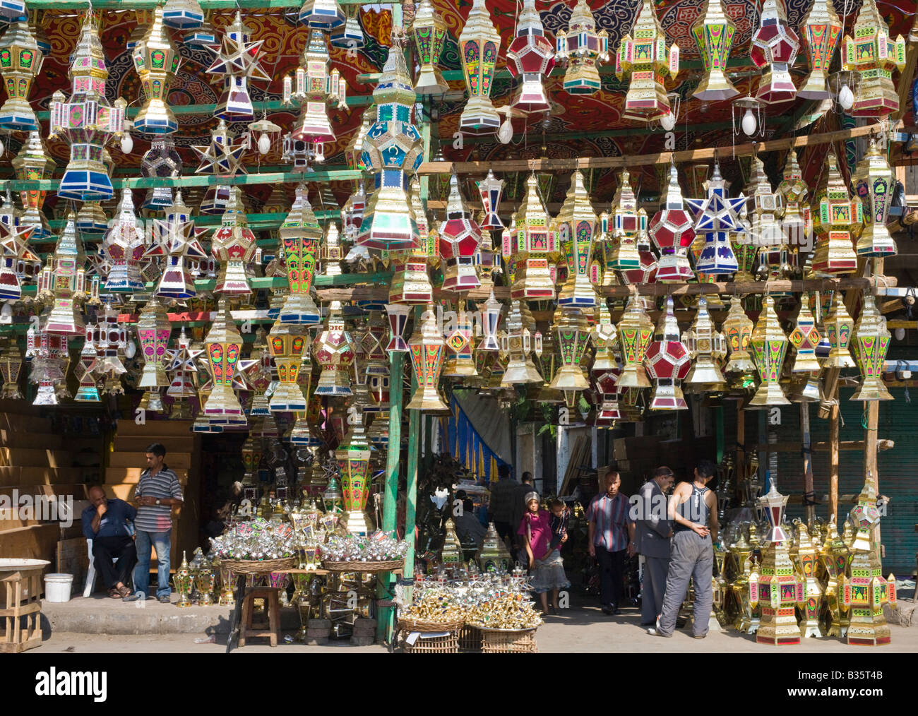 Ramadan lanterns for sale, Cairo, Egypt - Stock Image