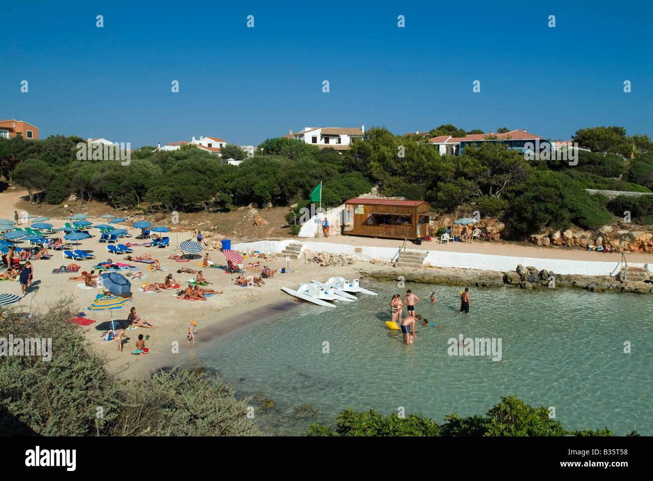 Beach at Sa Caleta, Menorca, Baleares, Spain Stock Photo
