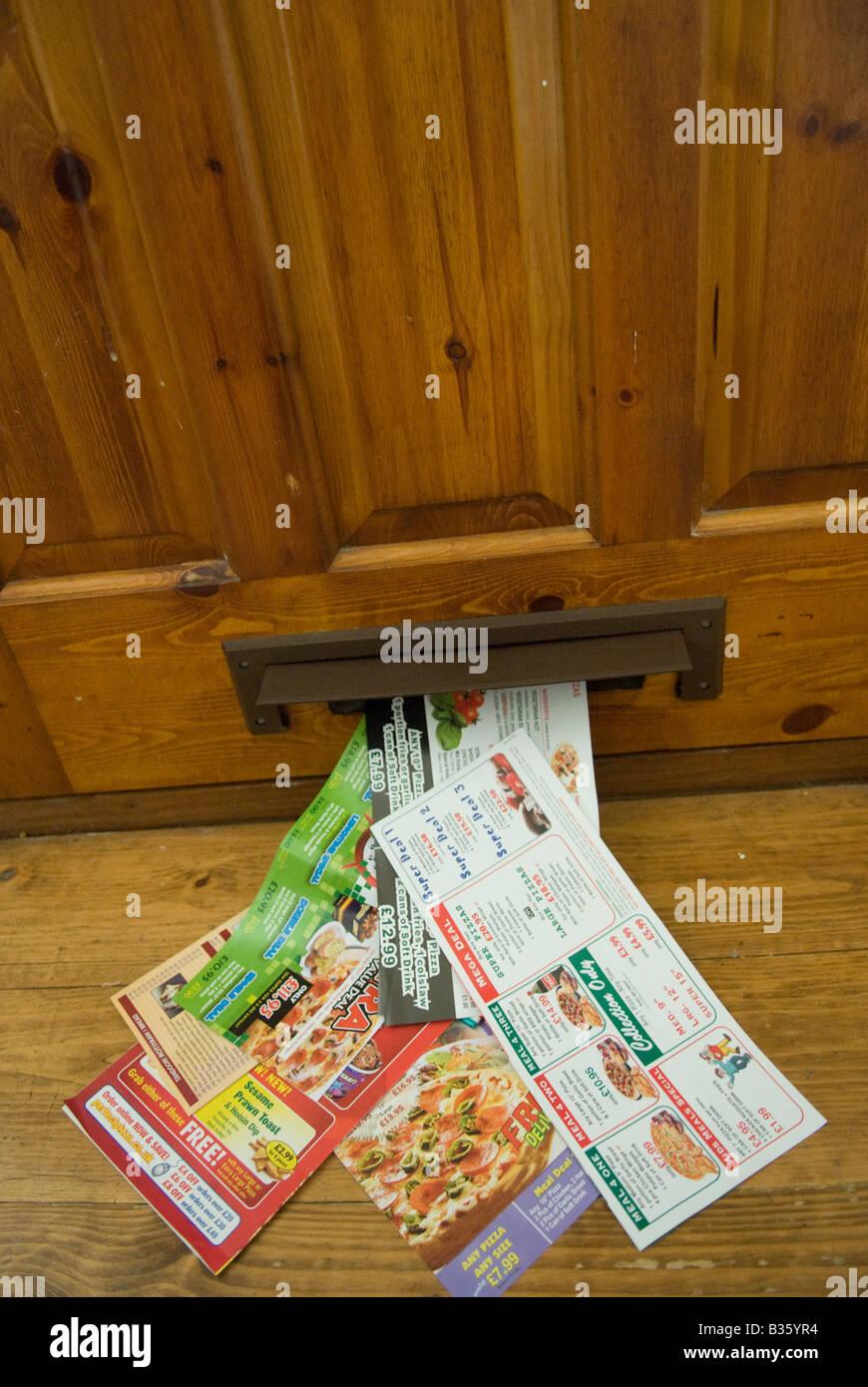 fast food menu junk mail Stock Photo: 19185912 - Alamy