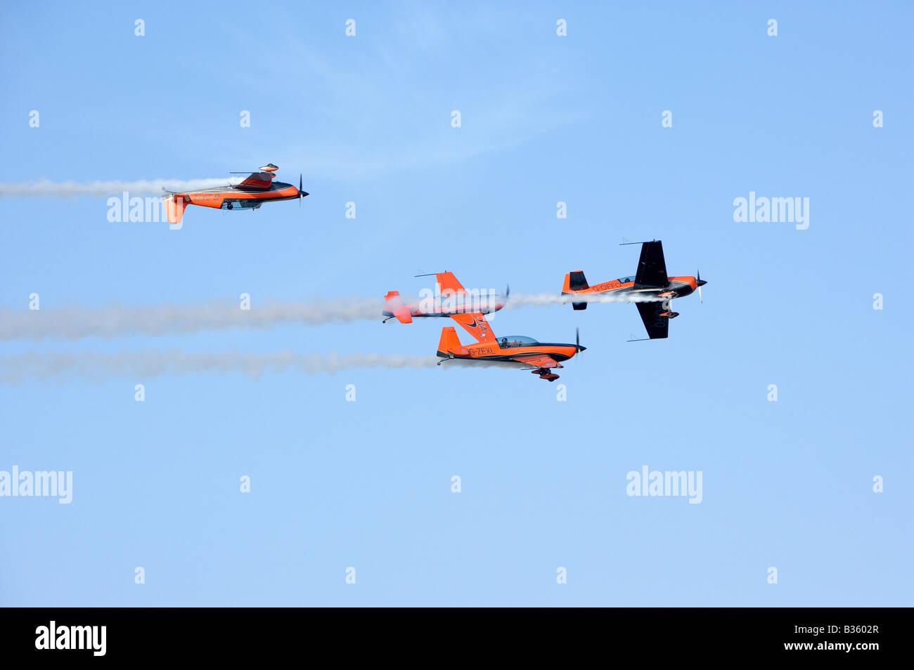 The Blades Aerobatic Team display over Bahrain - Stock Image