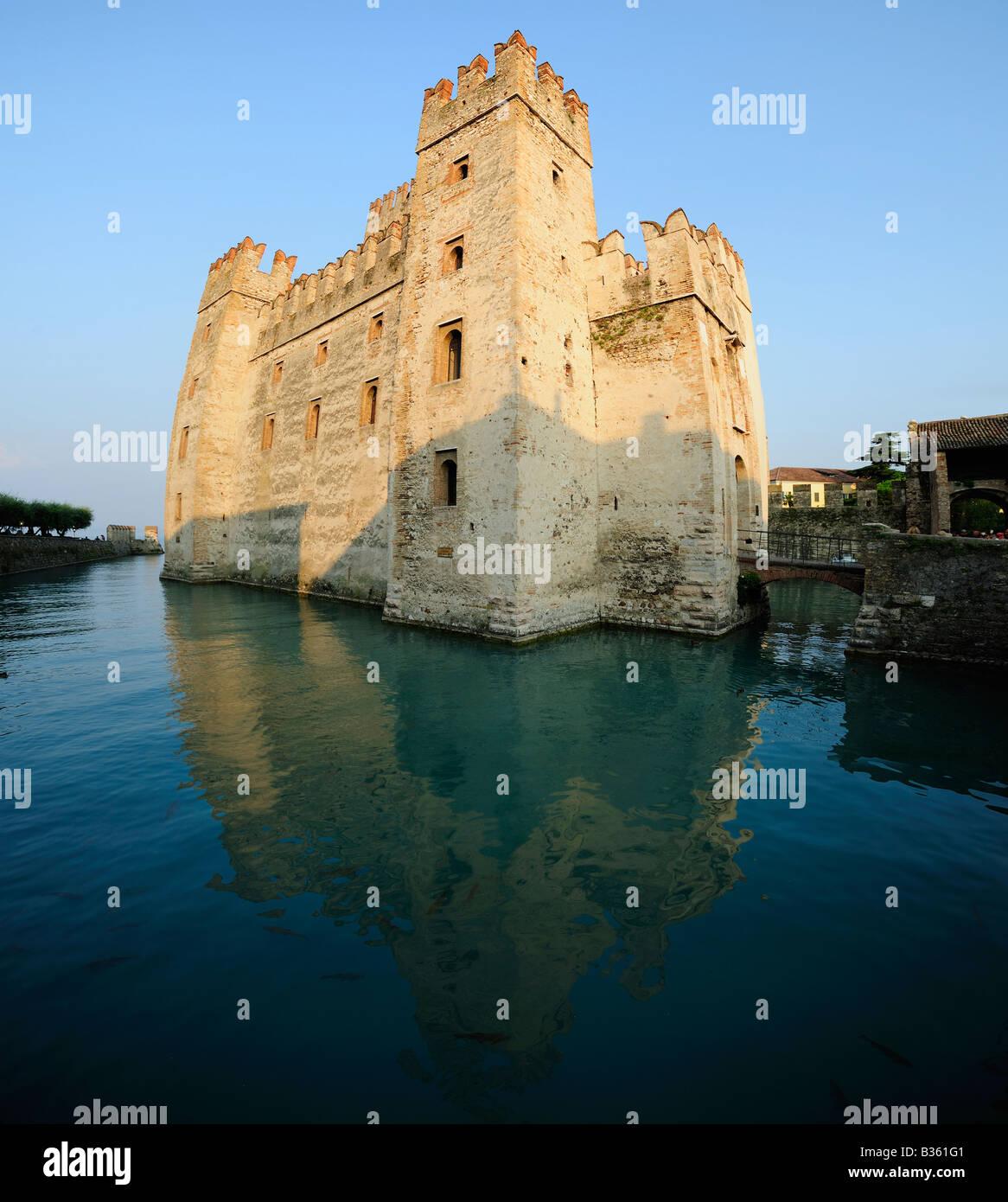 Castle Sirmione.  Lake Garda, Italy - Stock Image
