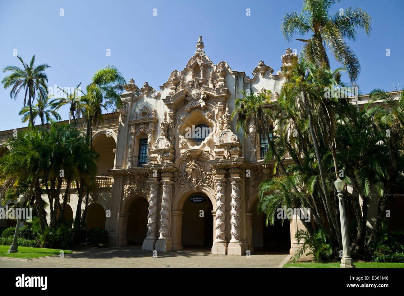 Stone architecture Balboa Park San Diego California USA Stock