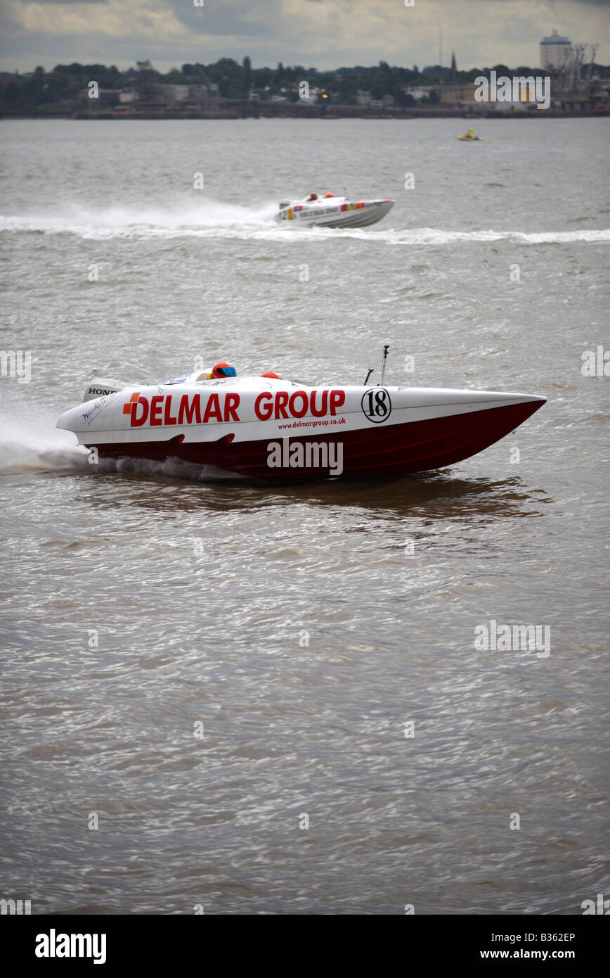Honda Powerboat Racing Liverpool UK - Stock Image