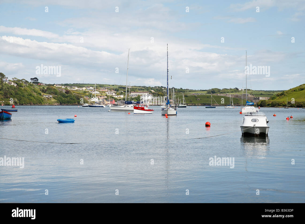 View from Kinsale to Summer Cove in Co Cork Ireland - Stock Image