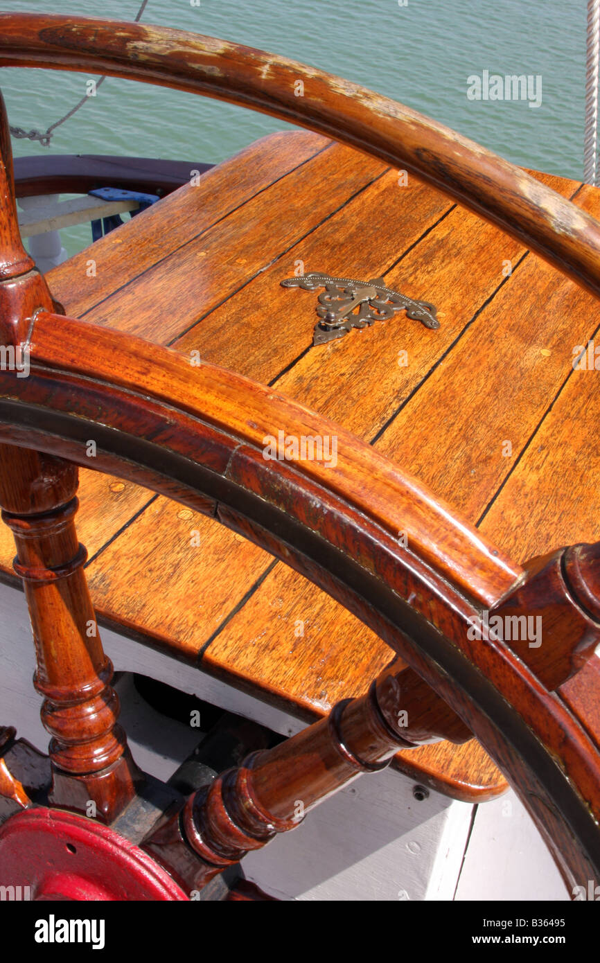 The mechanical degree tool of the Red Witch ship at the Maritime Festiville in Port Washington Wisconsin - Stock Image