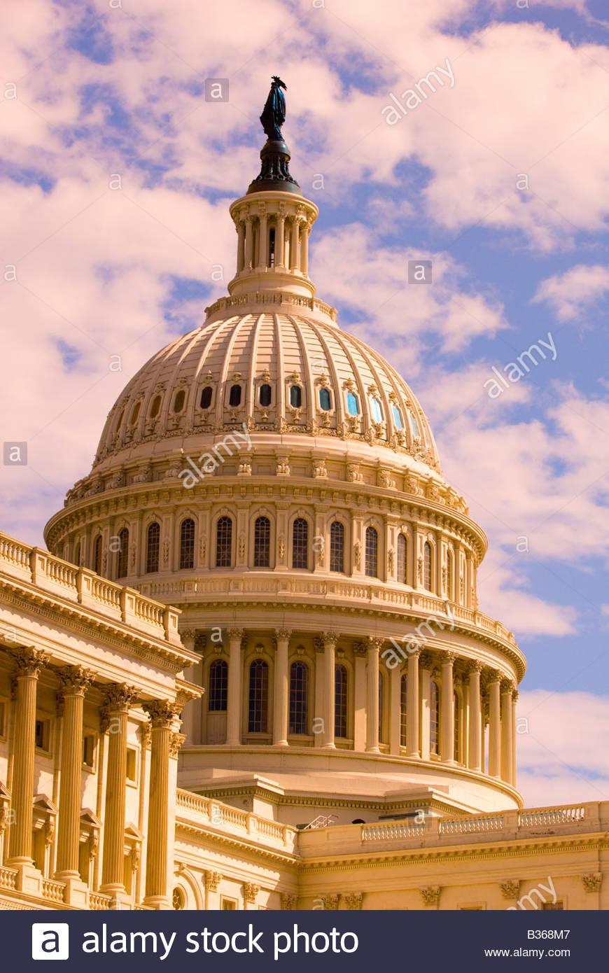 Dome of the U S Capitol Washington D C U S A - Stock Image