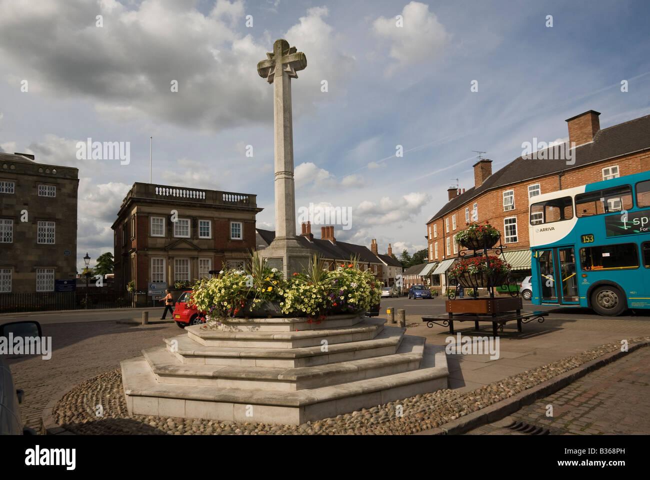Market Place Market Bosworth Leicestershire England UK - Stock Image