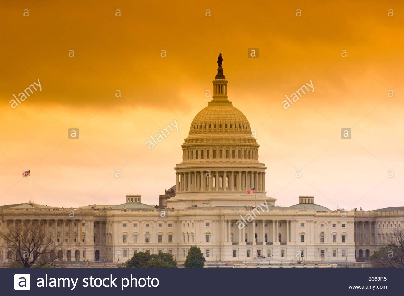 U S Capitol Washington D C U S A - Stock Image