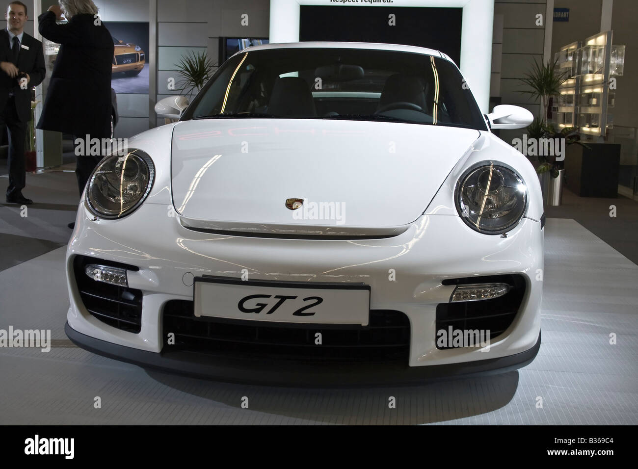 Porsche 911 GT2 at Zagreb Auto Show in Croatia from 28.3. 2008. -  06. 04. 2008. - Stock Image