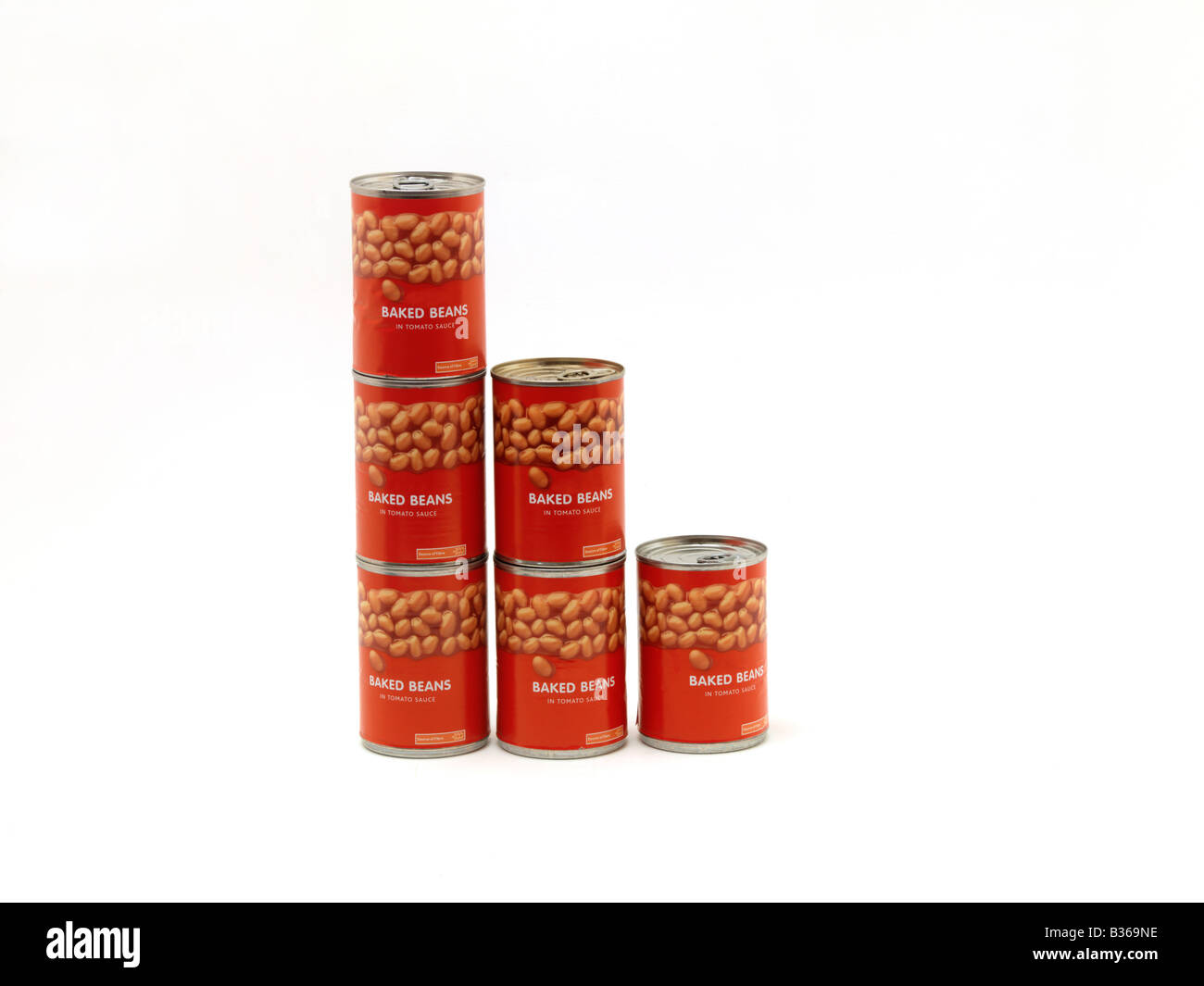 Tins of Baked Beans - Stock Image