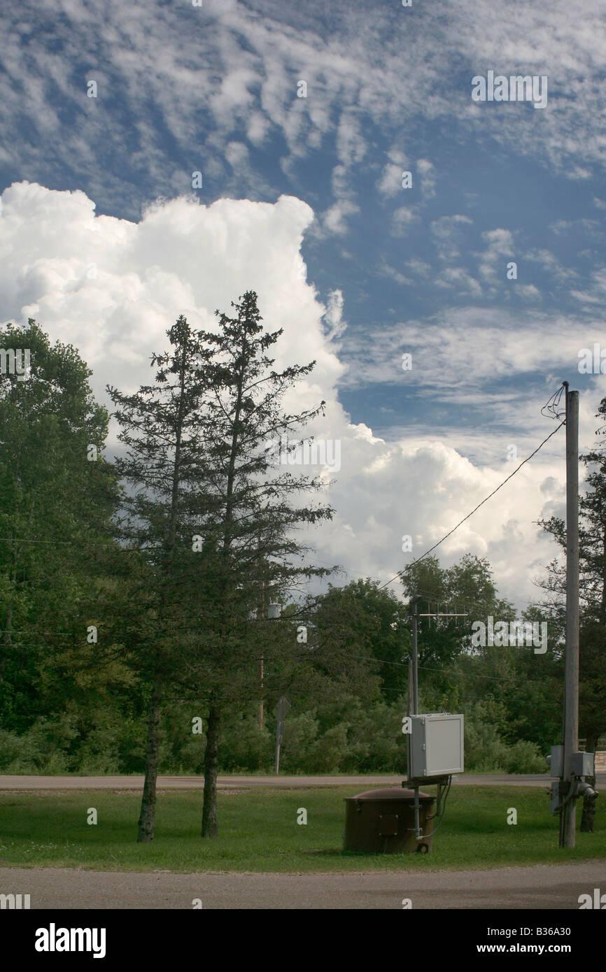 Radio linked stream monitoring station United States Geological Survey - Stock Image