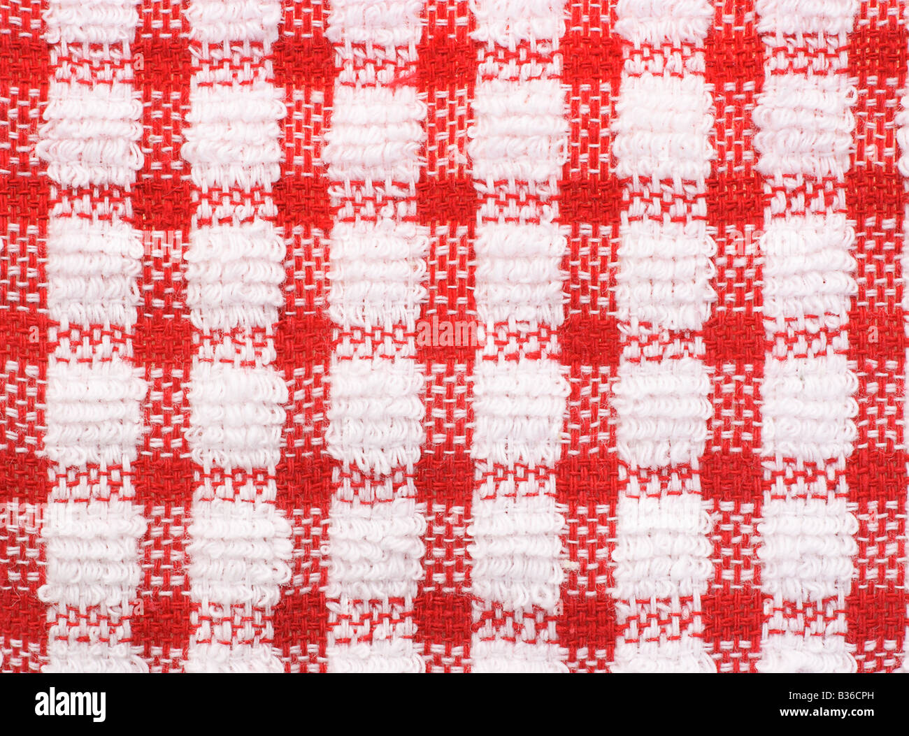 Red And White Checkered Pattern Texture Of Table Cloth For Background