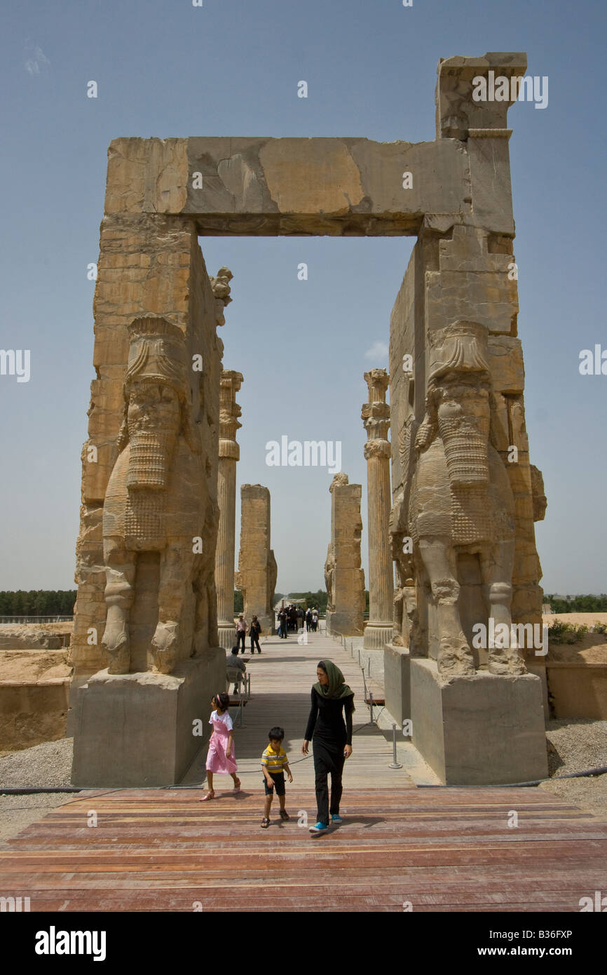 Gate of All Nations at Persepolis in Iran - Stock Image