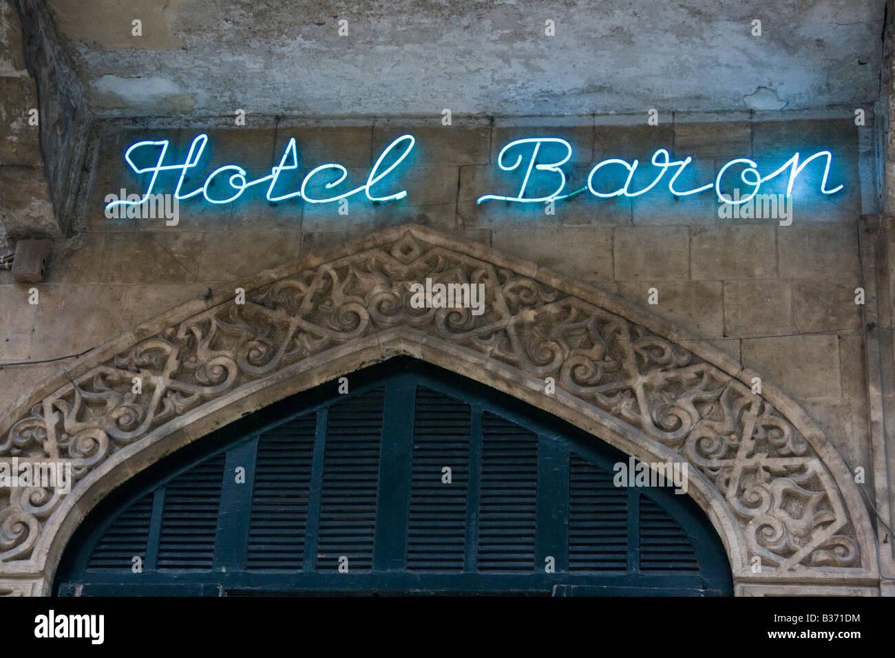 Historic Hotel Baron in Aleppo Syria - Stock Image