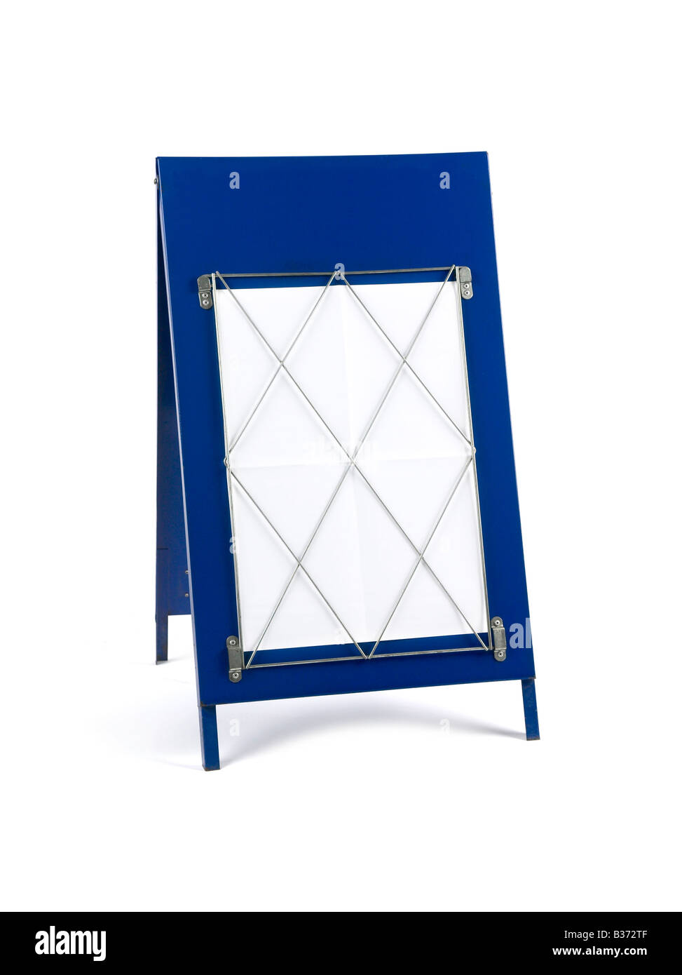 NEWS AGENTS BANNER HEADLINE 'A' BOARD WITH BLANK PAPER - Stock Image