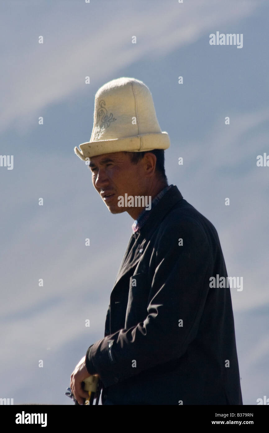 Kyrgyz Chinese Man at Karakul Lake in Xinjiang Province in China - Stock  Image 121d77aa7d31
