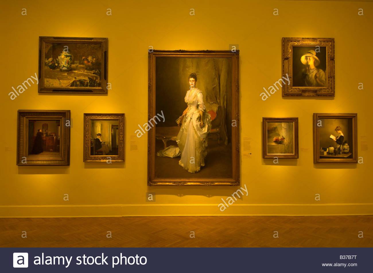 American Evolution exhibition Corcoran Gallery of Art Washington D C U S A - Stock Image