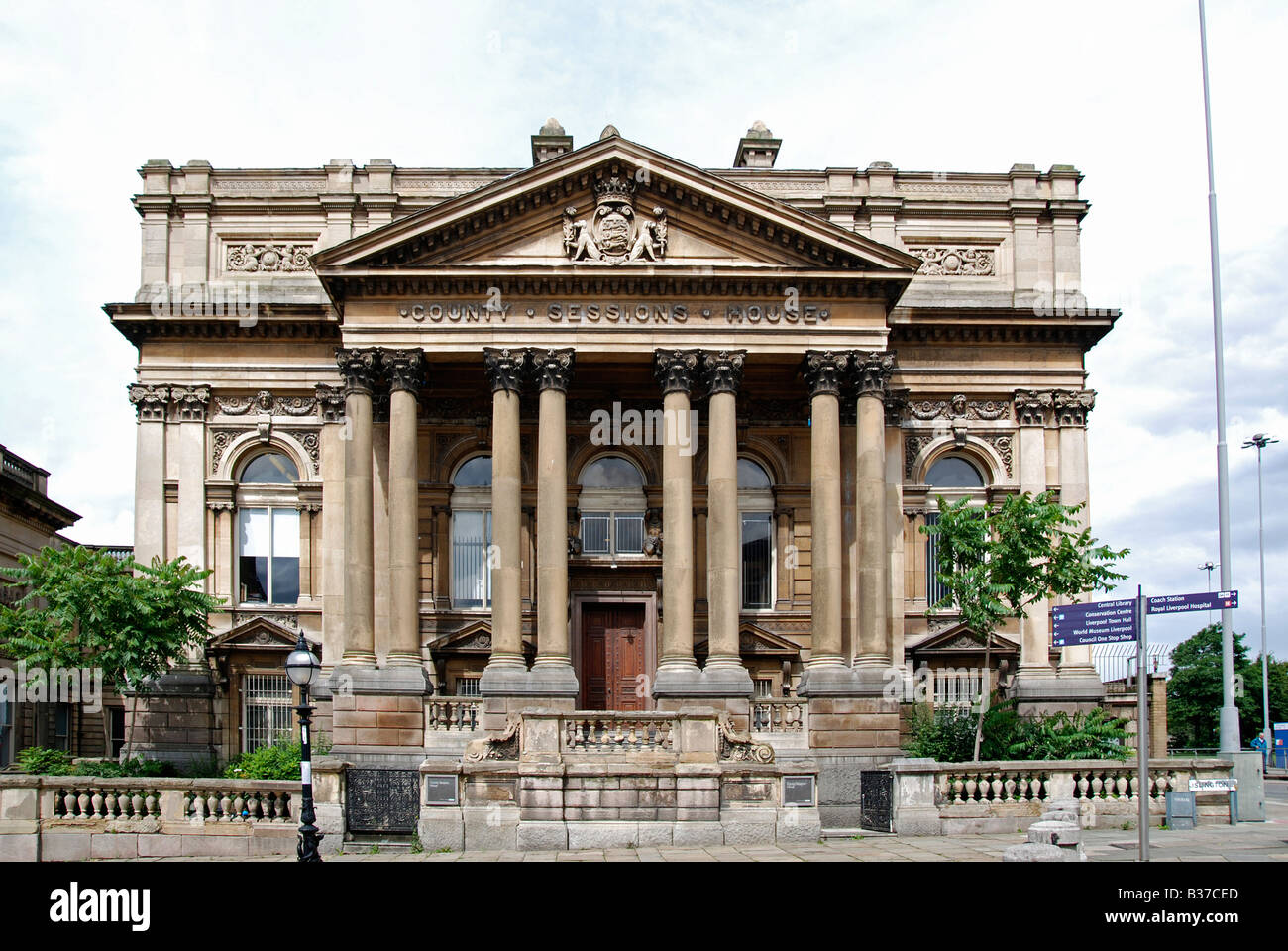 the old 'county sessions house' in liverpool,england,uk - Stock Image