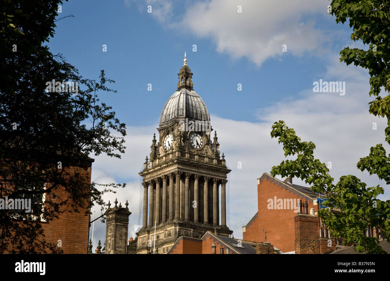 Leeds Town Hall. Yorkshire - Stock Image
