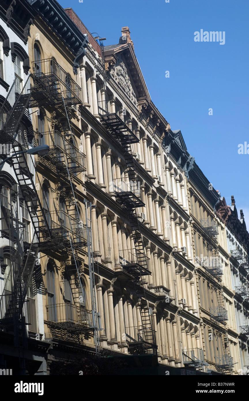 Cast iron buildings in Tribeca Stock Photo