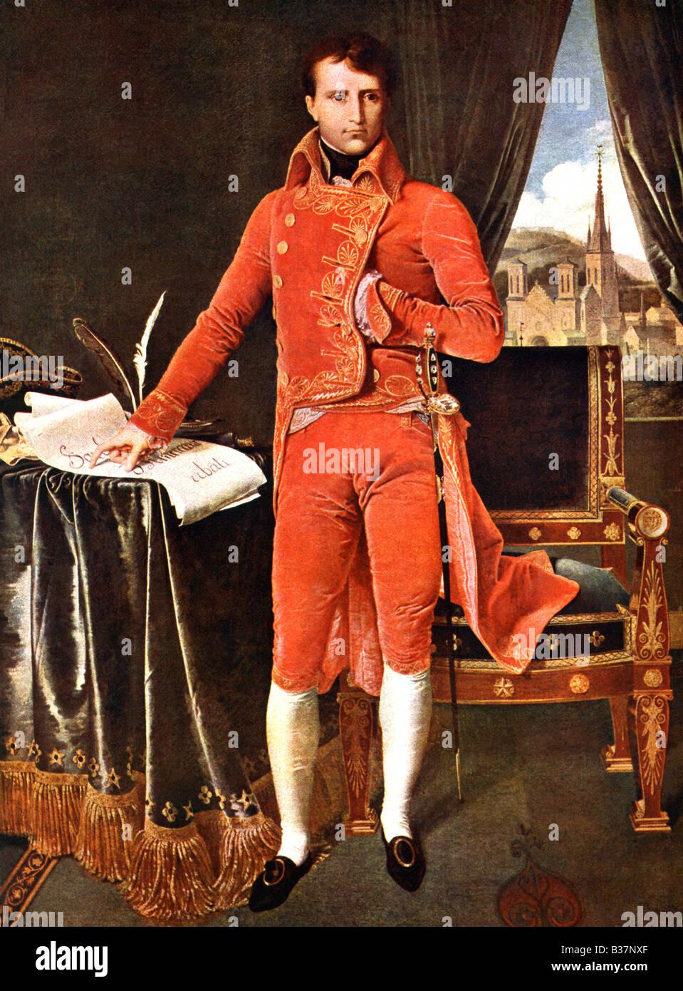 Napoleon by Ingres - Stock Image