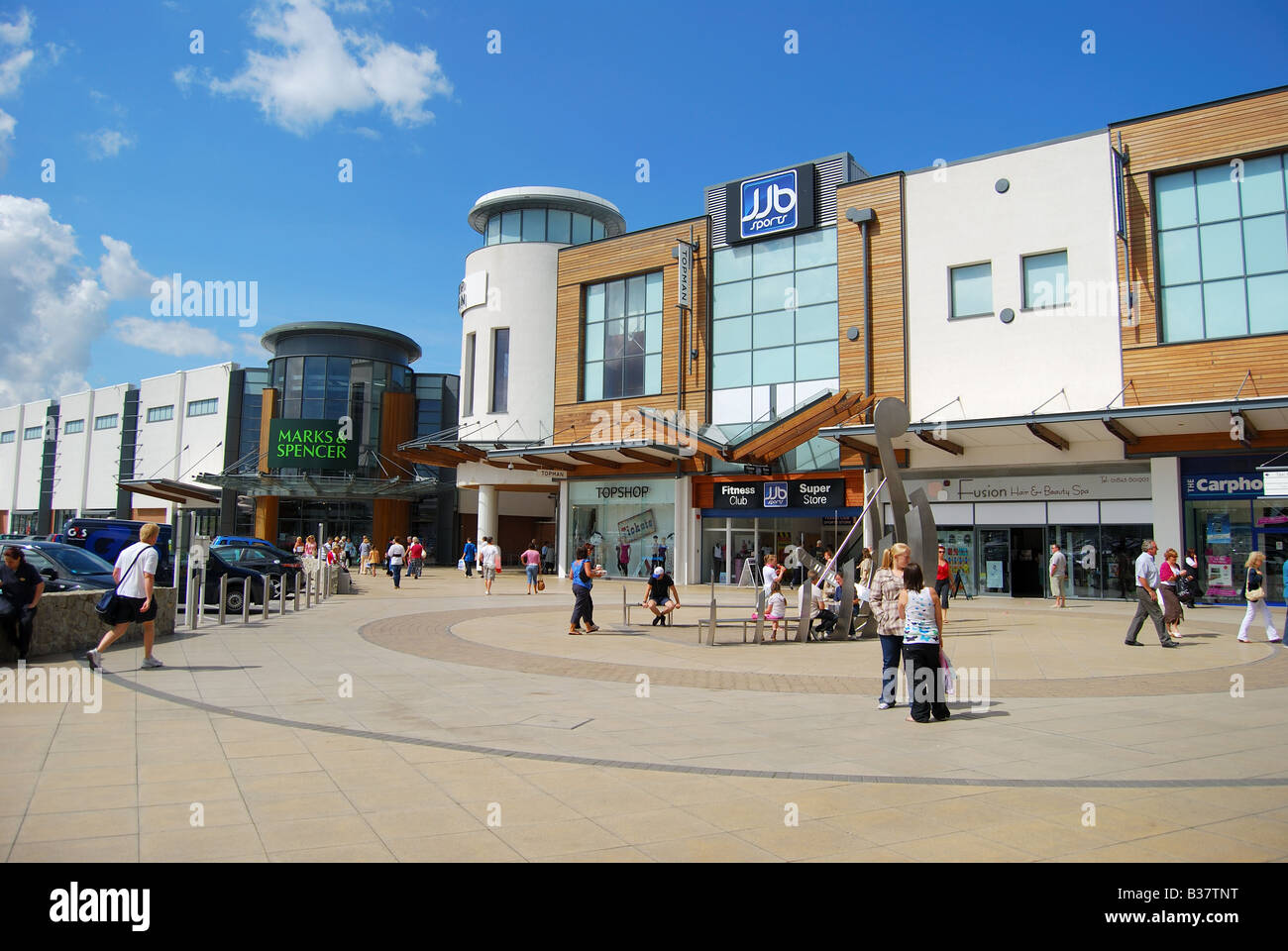 Westwood Cross Shopping Centre, Margate Rd, Broadstairs, Kent, England, United Kingdom - Stock Image