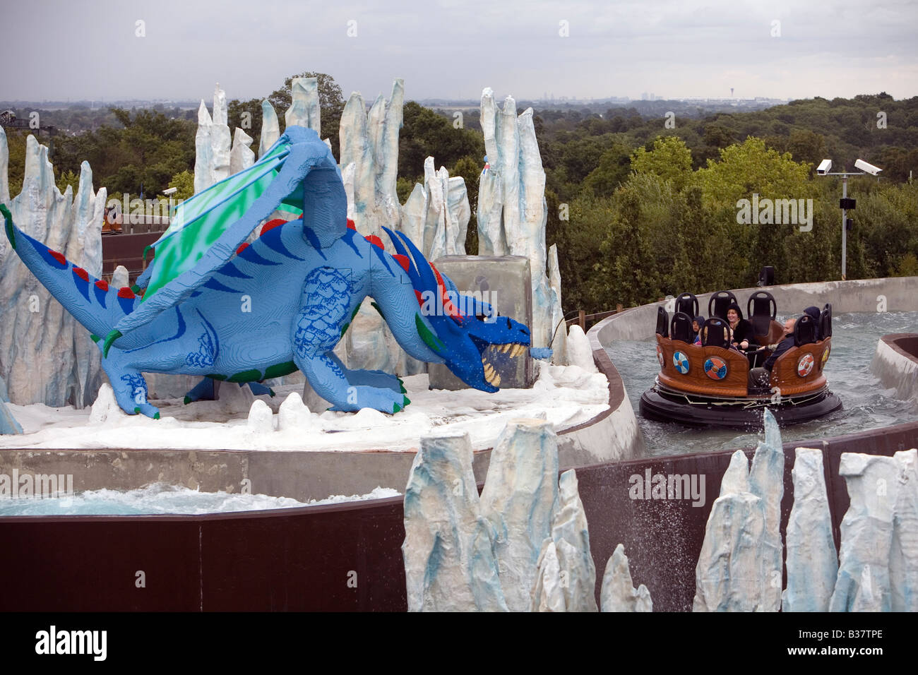 Pic shows a ride at Legoland Stock Photo